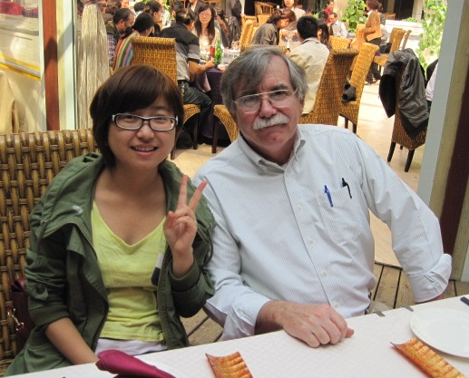 My guide and interpreter Clara Z (Most students of English choose an Anglo/American name for themselves.)